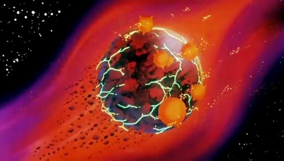Esplosione del pianeta Namek (tratto da qui
